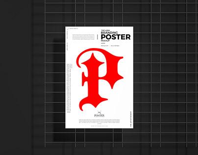 Top View Branding Poster Mockup Free