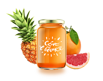 Juice in a jar