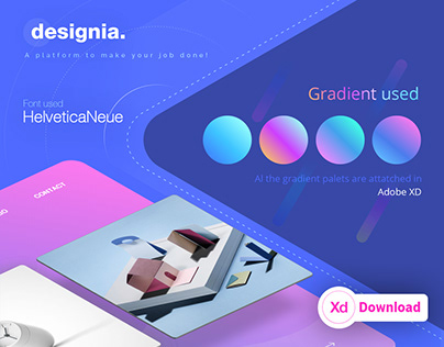 FREE XD! Design agency landing page concept.
