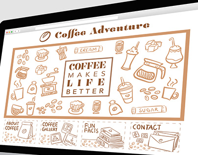 Coffee Adventure Webpage