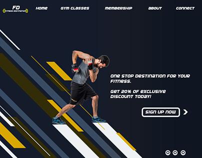 Fitness Website | Gym Website | Home Page Design