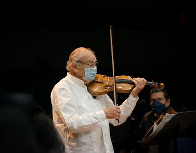 León Spierer junto a la Sinfónica de Guayaquil