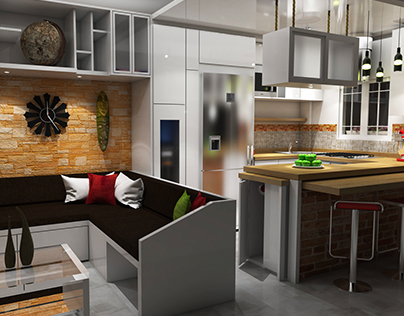 Diseño de Sala - Cocina/Comedor
