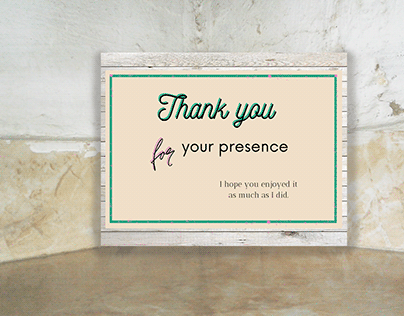 Thank you for your presence card