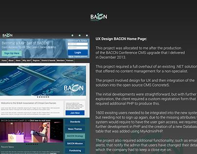 BACCN Concrete5 CMS Project