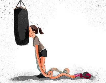 un pò di boxe, vita sportiva.