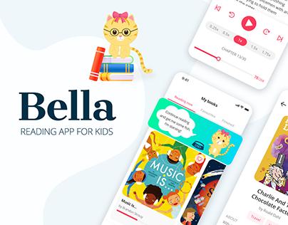 BELLA Reading mobile app for kids UI/UX Design