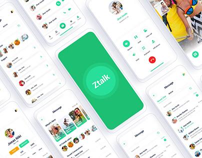 Ztalk – Chat Messenger Adobe XD Template