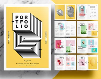 InDesign Template - Editorial Yellow Portfolio Layout