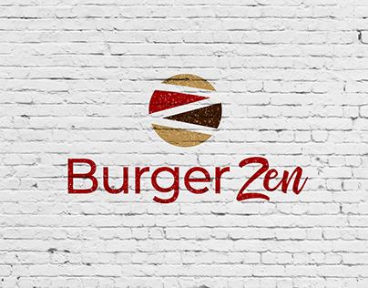Burger Zen - Restaurant & Burger Bar Logo developement