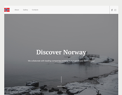 Discover Norway concept