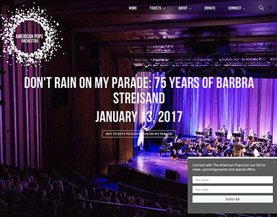 American Pops Orchestra Web and Logo Design