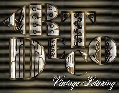 Vintage Decorative Lettering Set