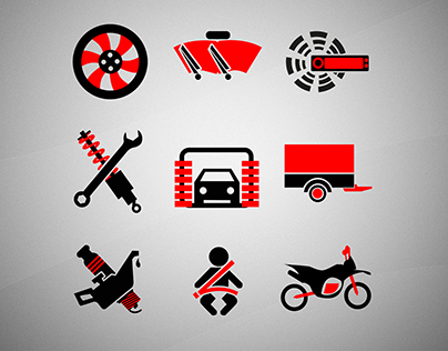 Cars icons pack : automobile industry