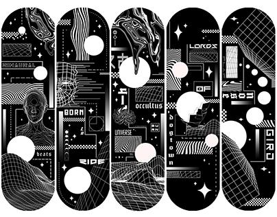 Skate Deck Design Handpainted unique edition