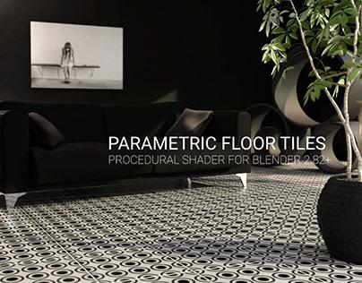 Blender parametric floor tiles