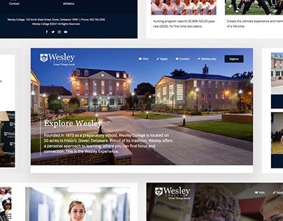 Wesley College Admissions Redesign