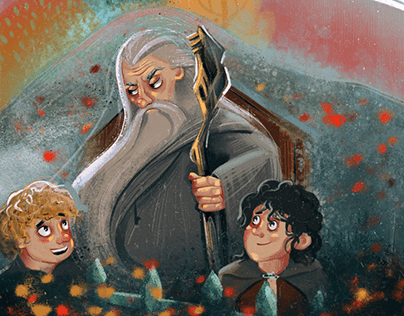 Lord Of The Rings   Book Illustrations