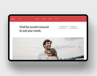 iOZO banking website