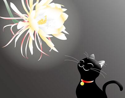 『月下美人と黒猫』