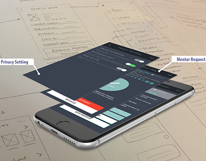 R.Connect -Mentor Network UX UI Case study
