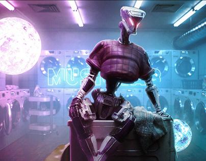 Robot in Neon