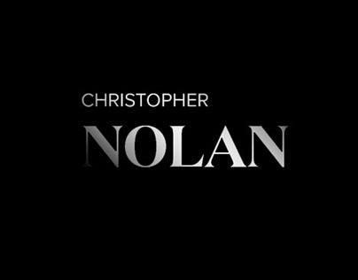 Christopher Nolan website concept (Adobe Xd)