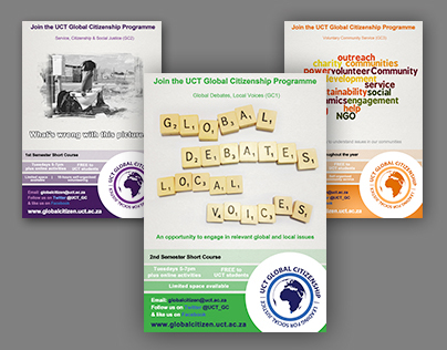 Global Citizenship Programme (UCT) posters