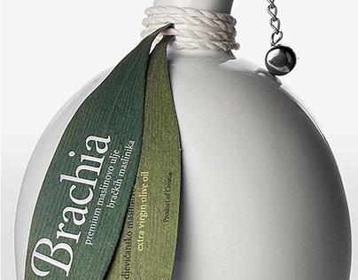 Brachia olive oil packaging