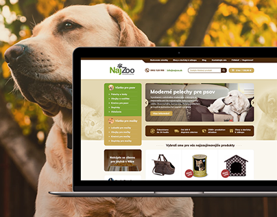 Web Design for eshop with Pet Supplies and Accessories