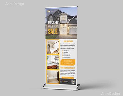 Real Estate Roll Up Banner Design