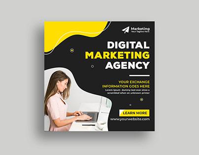 5 Digital Marketing Social Media Post Template