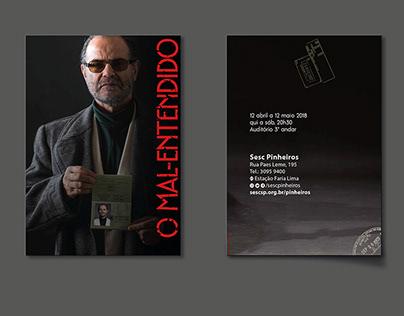 O Mal-entendido - Design gráfico - Teatro