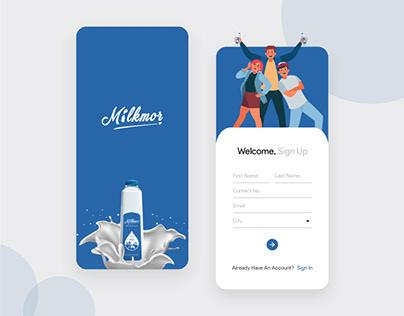 Milk Subscription App Design