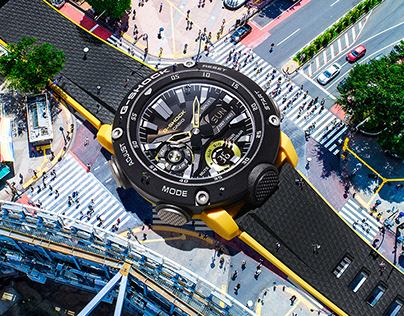 G-SHOCK with drone photography