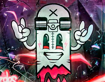 Light graffiti mural/zdesroy
