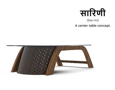 Saarini - A Center Table Concept.