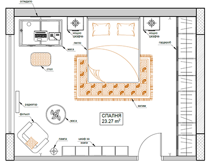 Interior Bedroom AutoCAD