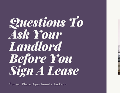 Questions To Ask Your Landlord Before You Sign A Lease