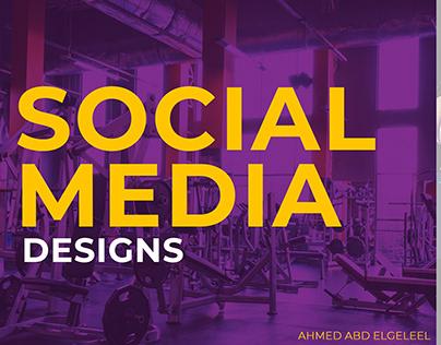 social media designs (gym media)