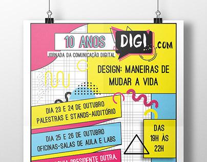 IDENTIDADE VISUAL-DIGI.COM \ Memphis concept poster