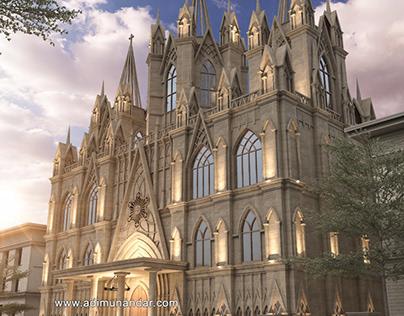 Desain Arsitektur Klasik Gereja di Ambon Indonesia
