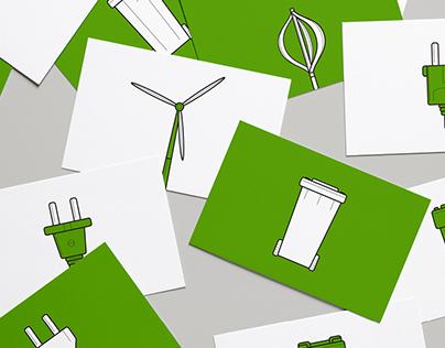 Icon design: Sustainability set
