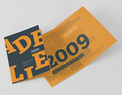 Adelle - Type Specimen Design