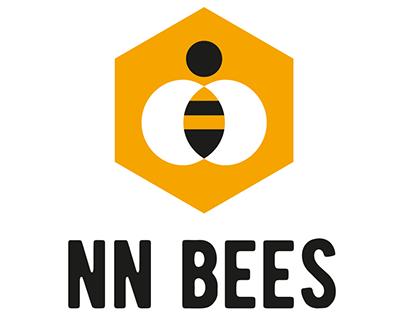 NN BEES logo and ad materials