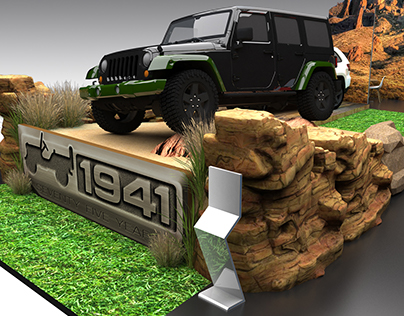 JEEP BOOTH DESIGN FOR PIMS 2016