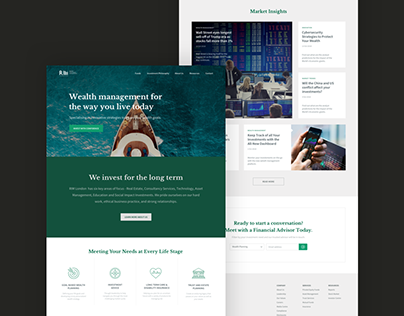 Wealth Management Corporate Landing Page