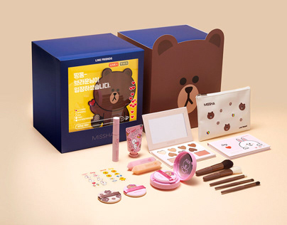 Missha X Line Friends 'Brown Live kit'