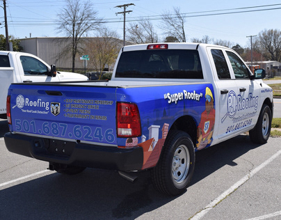 P.I. Roofing Vehicle Wraps