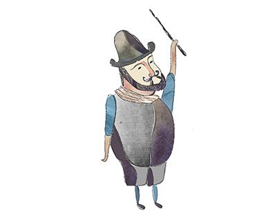 Diseño de personajes - Historia de fundación de Chile